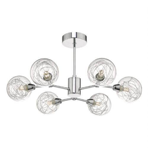 Tyka 6lt Semi Flush Polished Chrome & Glass (double insulated) BXTYK6450-17
